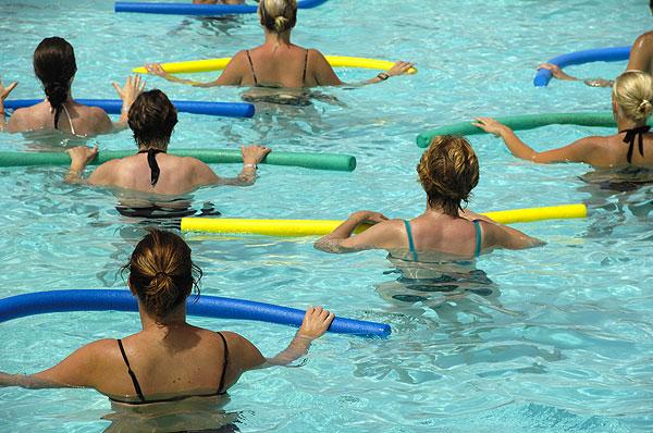 Aqua aerobics lesson
