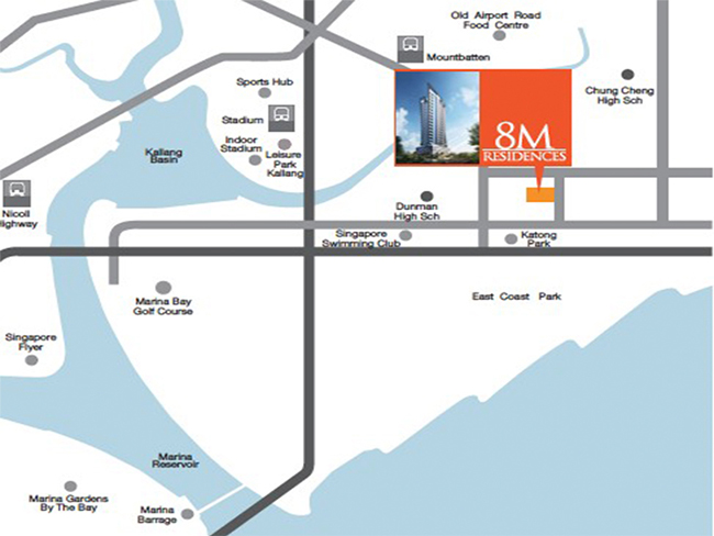 8m residences location