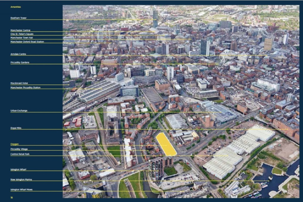 Oxygen Tower manchester map