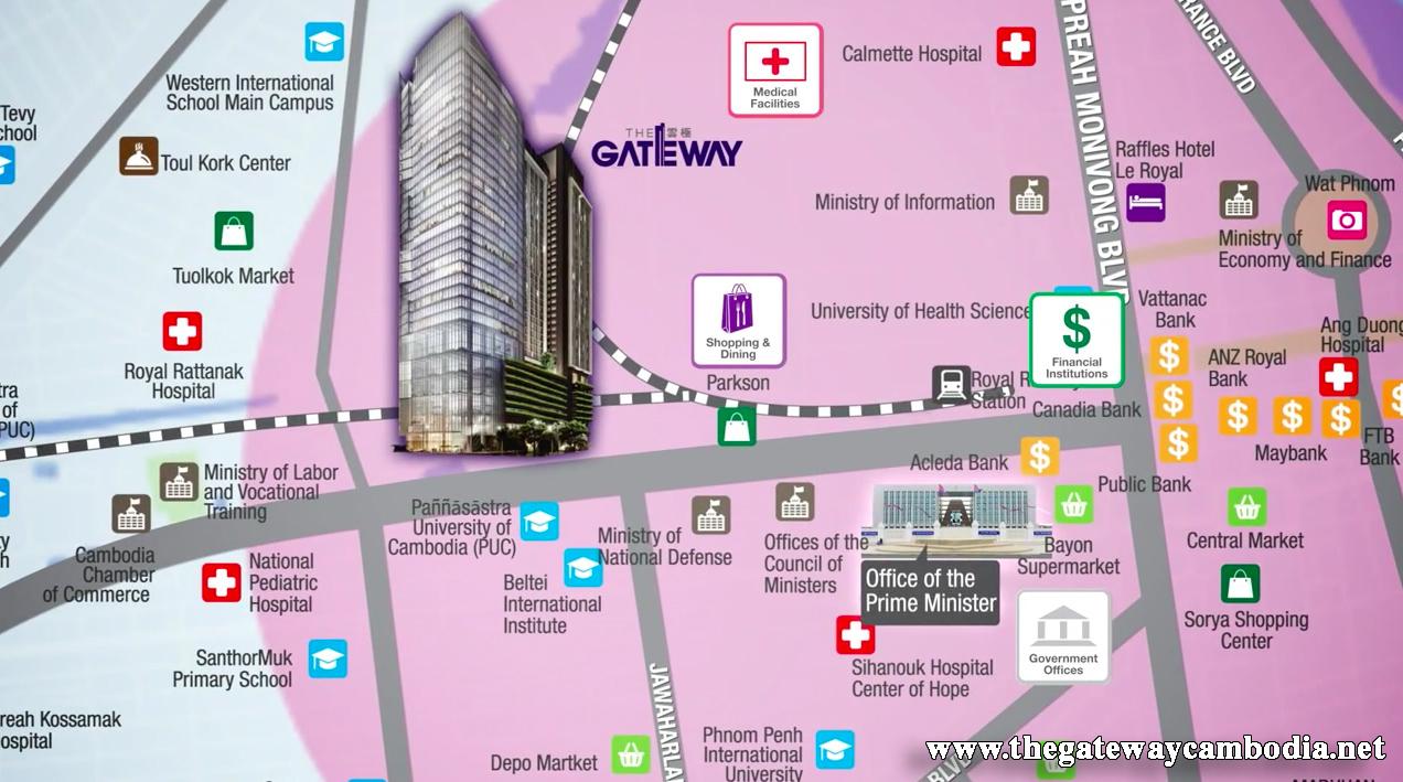The Gateway Cambodia Location