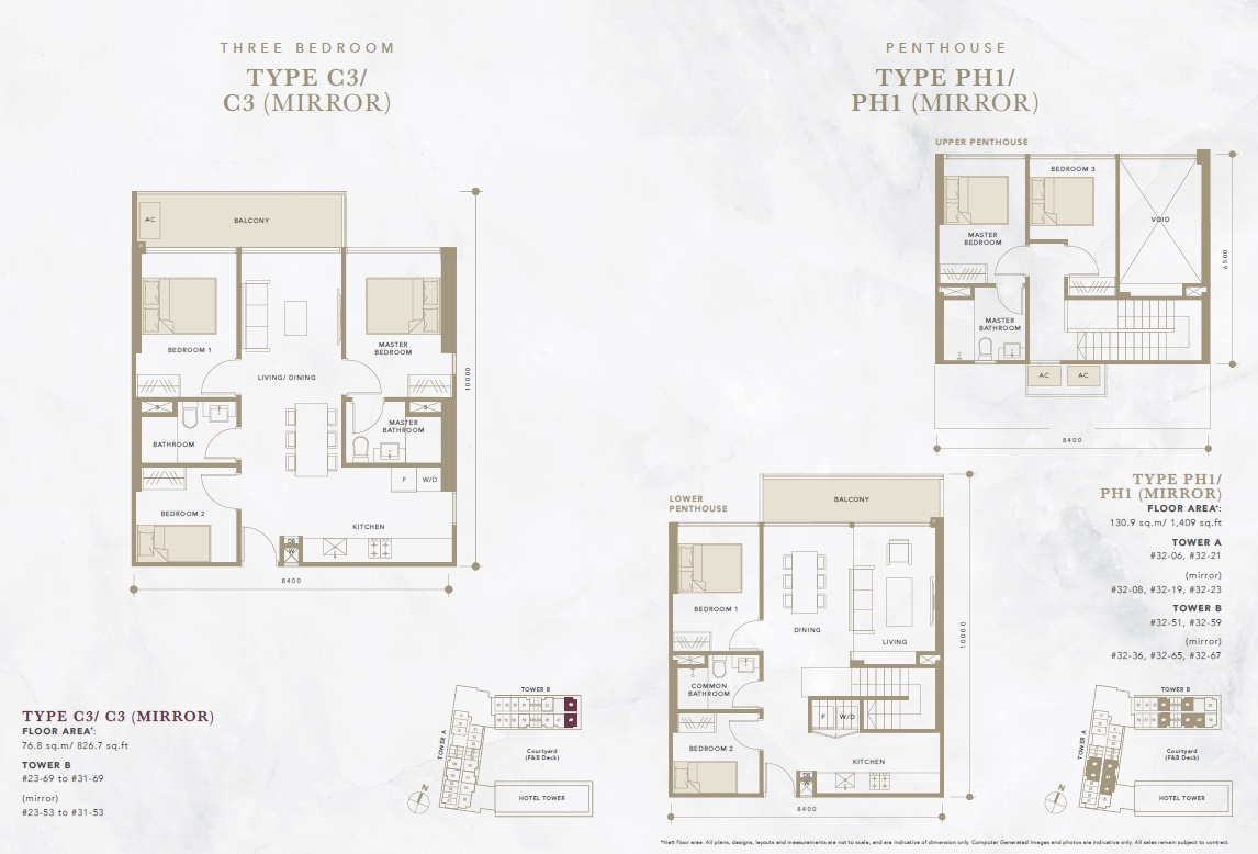 oxley convention city 3 bedroom floor plan2